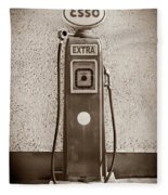 An Esso Petrol Pump From The First Half Fleece Blanket