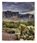 An Evening At The Superstitions Fleece Blanket