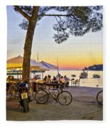 An Evening In Rovinj - Croatia Fleece Blanket