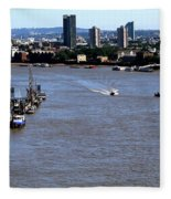 An Expansive View From The Tower Bridge Fleece Blanket