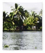 An Isolated Cottage On A Small Piece Of Land Fleece Blanket