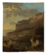 An Italianate Landscape With Travellers Ambushed By Bandits Fleece Blanket