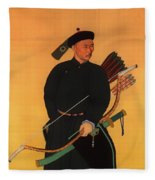 An Officer Of The Qing Army Fleece Blanket