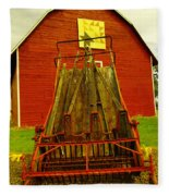 An Old Barn In Kittitas Fleece Blanket
