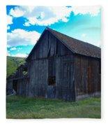 An Old Barn In The Sage Fleece Blanket