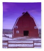 An Old Barn In The Wenas Fleece Blanket