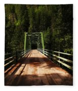 An Old Bridge Crossing The Seleway River  Fleece Blanket
