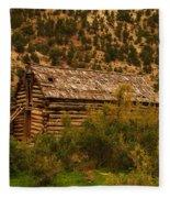 An Old Cabin In Utah Fleece Blanket