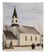 An Old Church In Palermo North Dakota Fleece Blanket