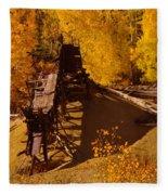 An Old Colorado Mine In Autumn Fleece Blanket