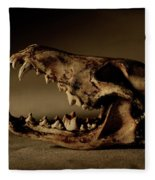An Old Coyote Skull, Canis Latrans Fleece Blanket