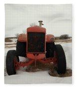 An Old Dase Tractor Fleece Blanket