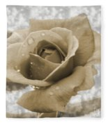 An Old Fashion Rose Fleece Blanket