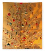 An Old Fashioned Christmas - Aluminum Tree Fleece Blanket