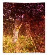 An Old Fence Post Fleece Blanket