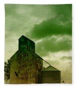 An Old Grain Silo In Eastern Montana Fleece Blanket