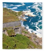 An Old  Hydroelectric Generating Station Fleece Blanket