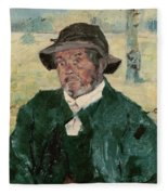An Old Man, Celeyran, 1882 Oil On Canvas Fleece Blanket
