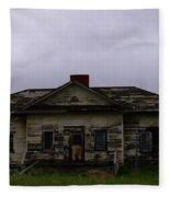 An Old Montana School House Fleece Blanket
