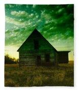 An Old North Dakota Farm House Fleece Blanket