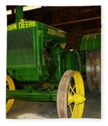 An Old Restored John Deere Fleece Blanket