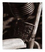 An Old Rusty Bicycle Fleece Blanket