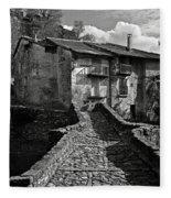 An Old Spanish Town Puente De Montanana Fleece Blanket