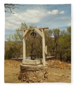 An Old Well In Lincoln City New Mexico Fleece Blanket