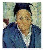 An Old Woman Of Arles Fleece Blanket