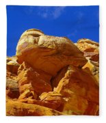 An Orange Boulder Fleece Blanket