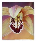An Orchid Fleece Blanket