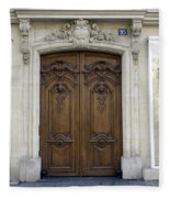 An Ornate Door On The Champs Elysees In Paris France   Fleece Blanket