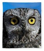 An Owl Fleece Blanket