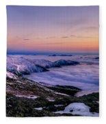 An Undercast Sunset Panorama Fleece Blanket