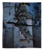 Anaglyph Dragon Fleece Blanket