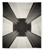Analog Photography - Berlin Abstract Architecture Fleece Blanket