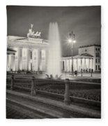 Analog Photography - Berlin Pariser Platz Fleece Blanket