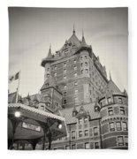 Analog Photography - Chateau Frontenac Quebec Fleece Blanket
