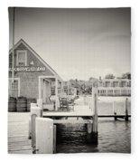 Analog Photography - Martha's Vineyard Black Dog Wharf Fleece Blanket