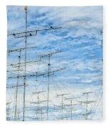 Analog Television Aerials Fleece Blanket
