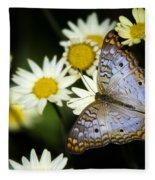 Anartia Jatrophae Fleece Blanket