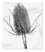 Anatomy Of A Weed Solarized Fleece Blanket