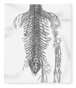 Anatomy: Spinal Nerves Fleece Blanket