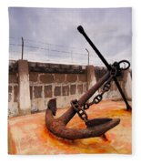 Anchor In La Canal Fleece Blanket