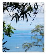 Anchorage In Paradise Fleece Blanket