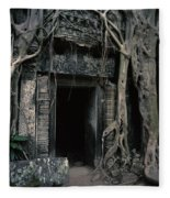 Ancient Angkor Cambodia Fleece Blanket
