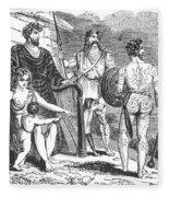 Ancient Briton, Caledonian And Irish Fleece Blanket