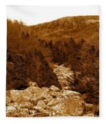 Ancient Brook - Sepia Tones Fleece Blanket