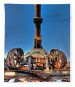 Ancient Cannon From Ww2 Fleece Blanket
