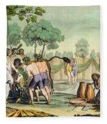 Ancient Celts Or Gauls Sacrificing Fleece Blanket